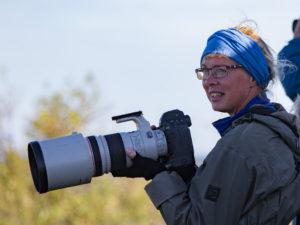 Fågelfotokurs: Lotta Berg _ en av deltagarna.