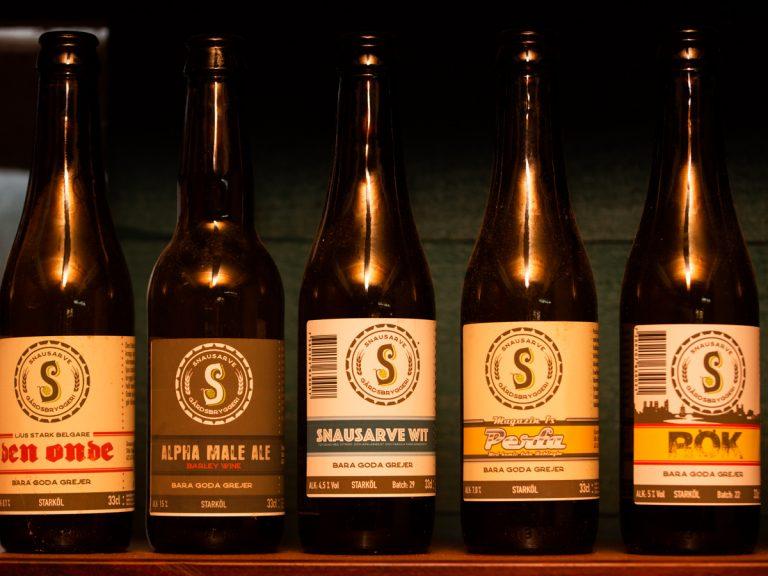 Örnar och öl - du får prova flera olika sorter! Foto: Jim Sundberg/GotlandNature